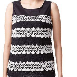 NWT Adiva Sleeveless Crochet Lace Blouse Size S
